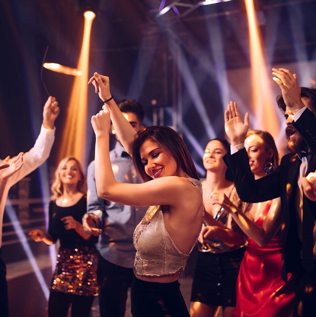 Dancing in a nightclub in Miami