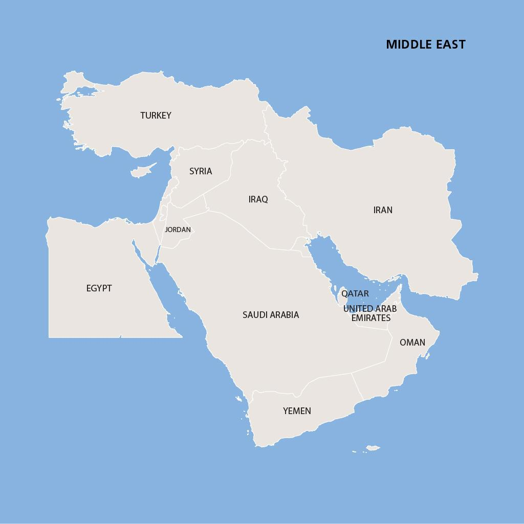 Middle East Vacations Map
