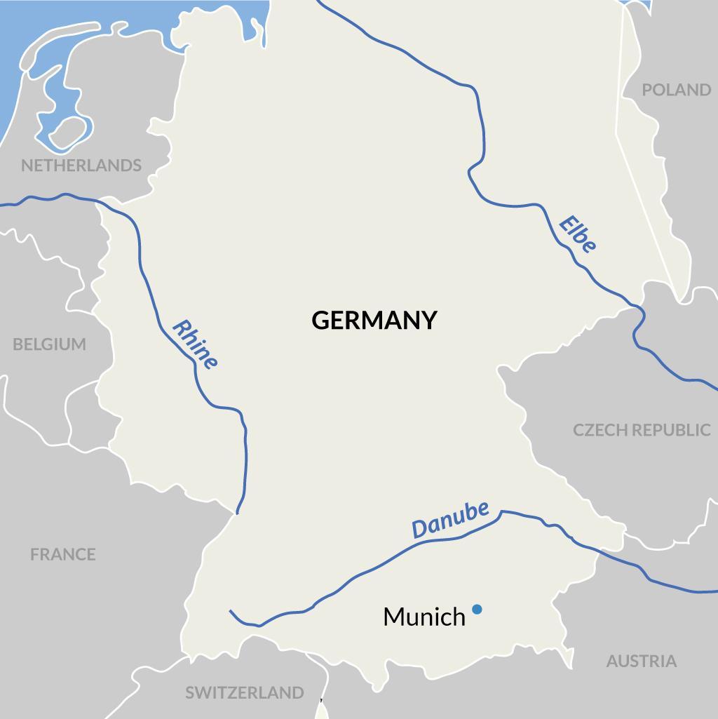 Munich vacations map