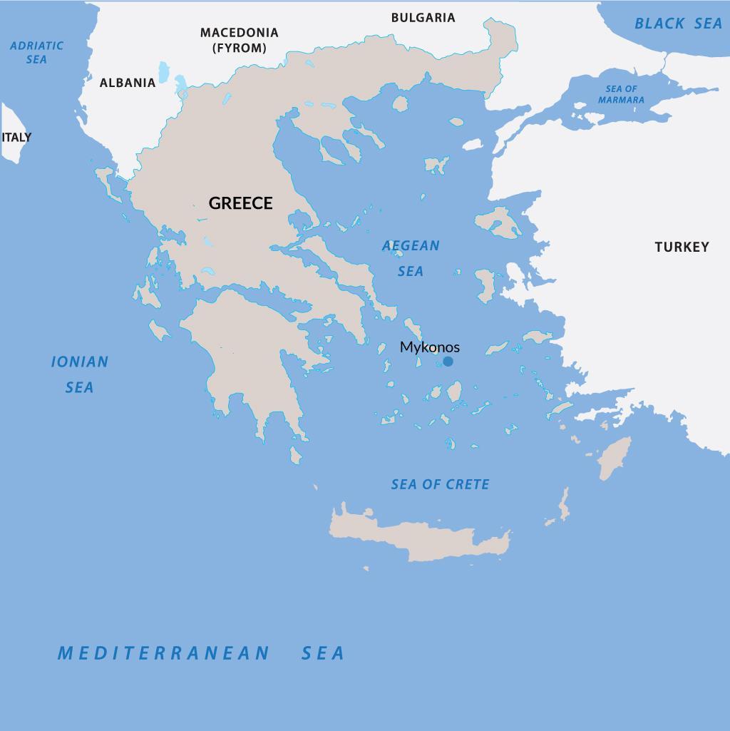 Mykonos vacations map