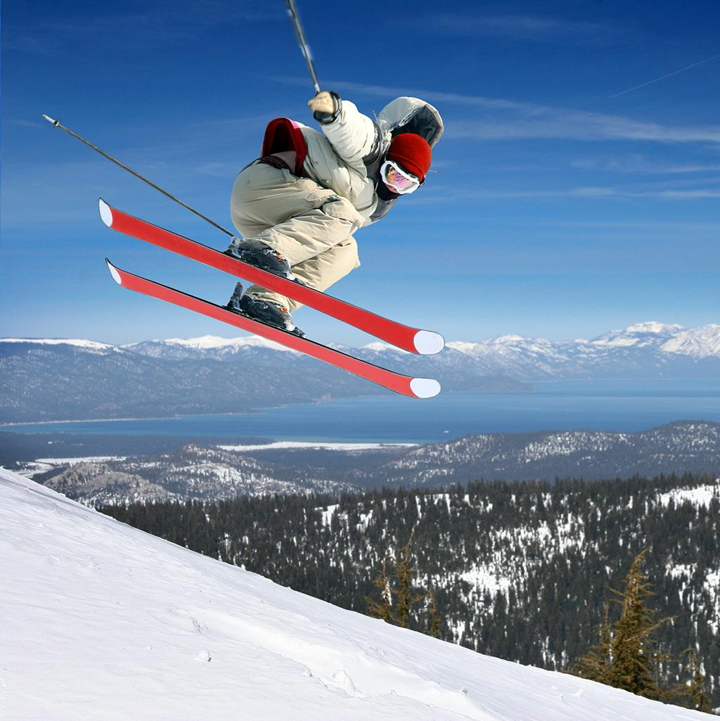 Skiing in Nevada on vacation