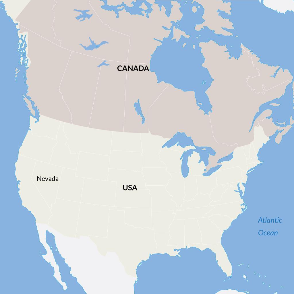 Nevada vacations map