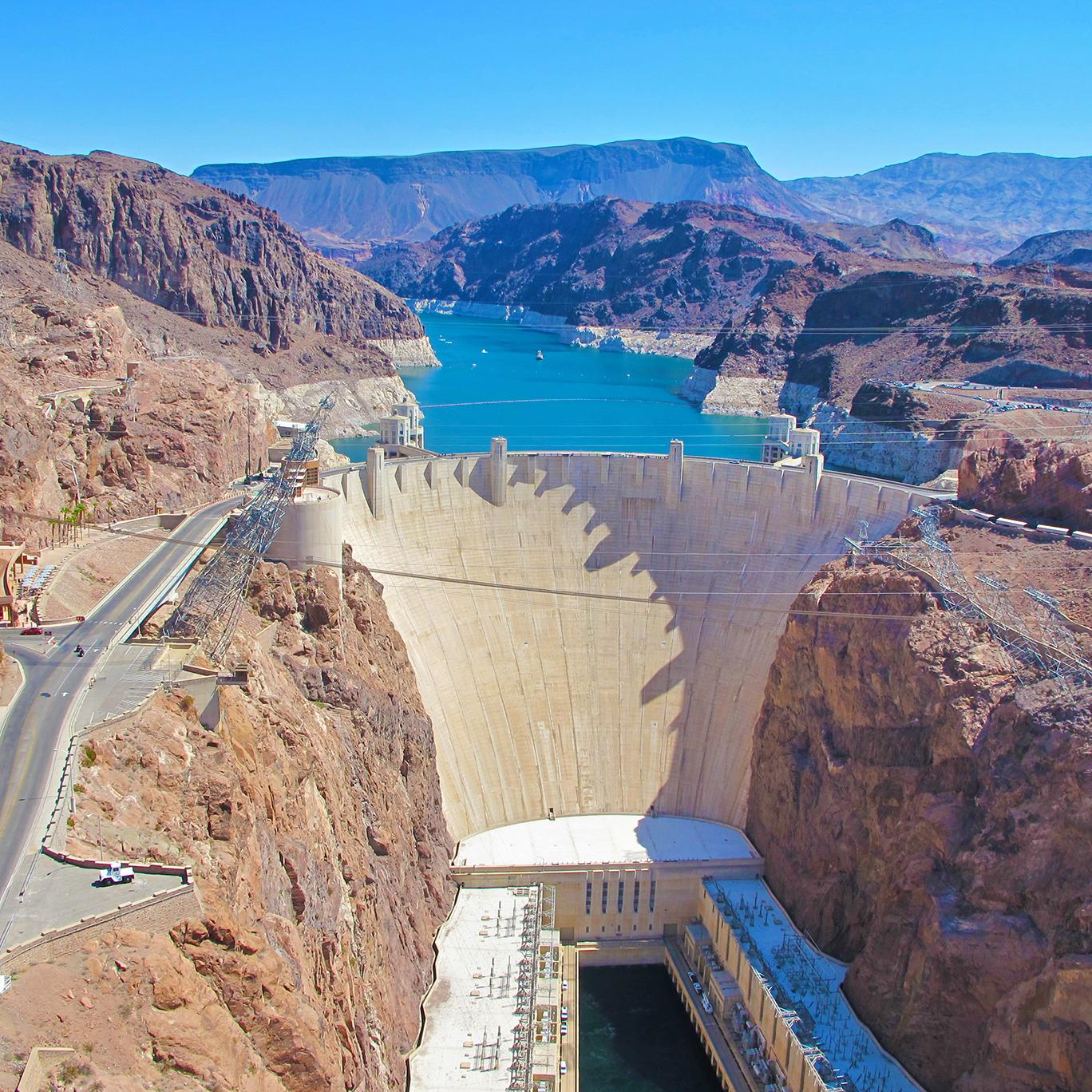 Views of the hoover dam in Nevada