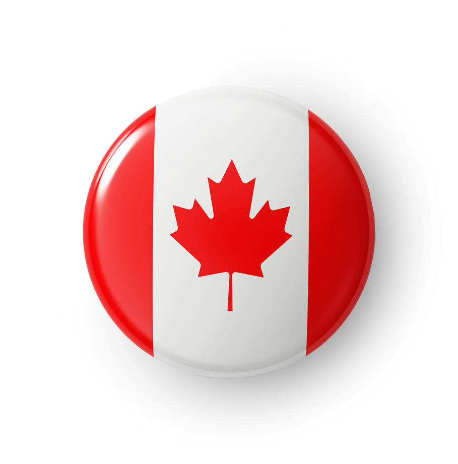 Canadian flag button souvenir