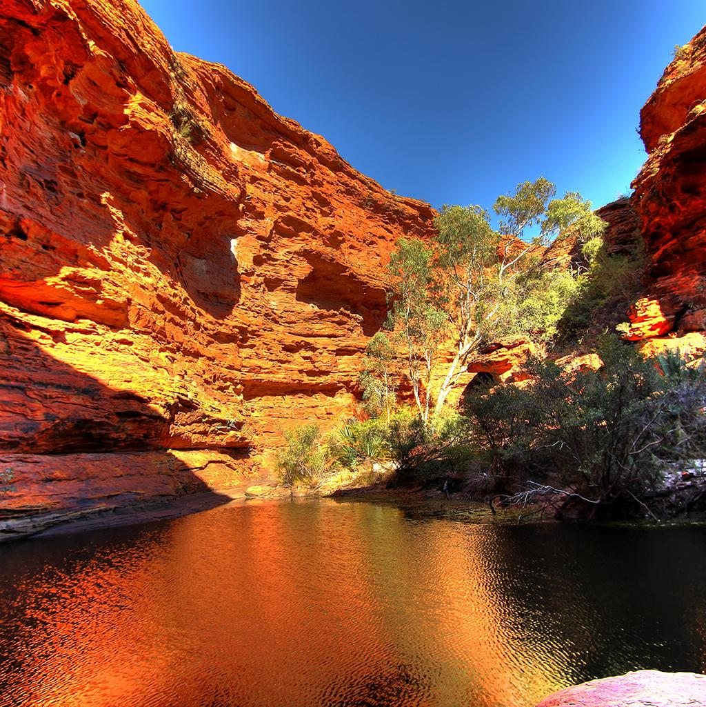 Visit King's Canyon while on vacation in Australia's Northern Territory
