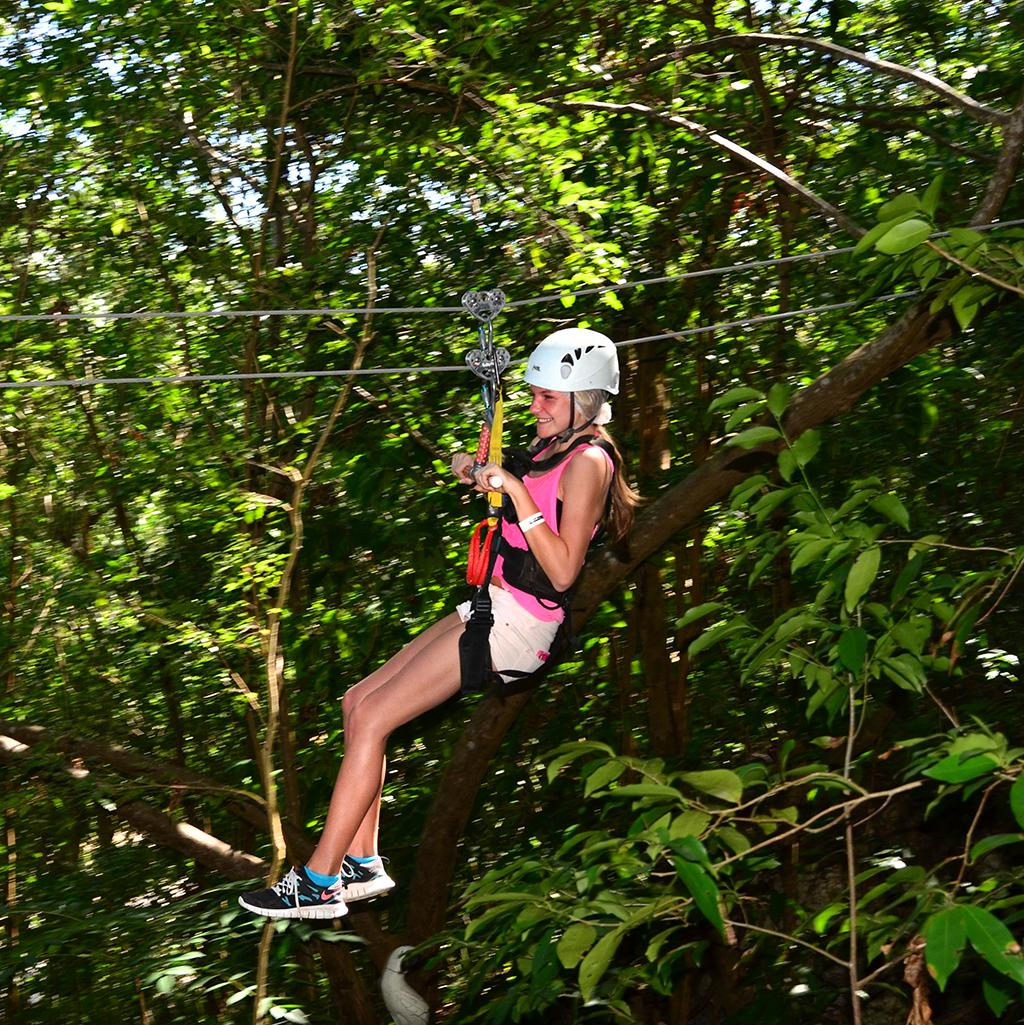 Ziplining in Ochos Rios
