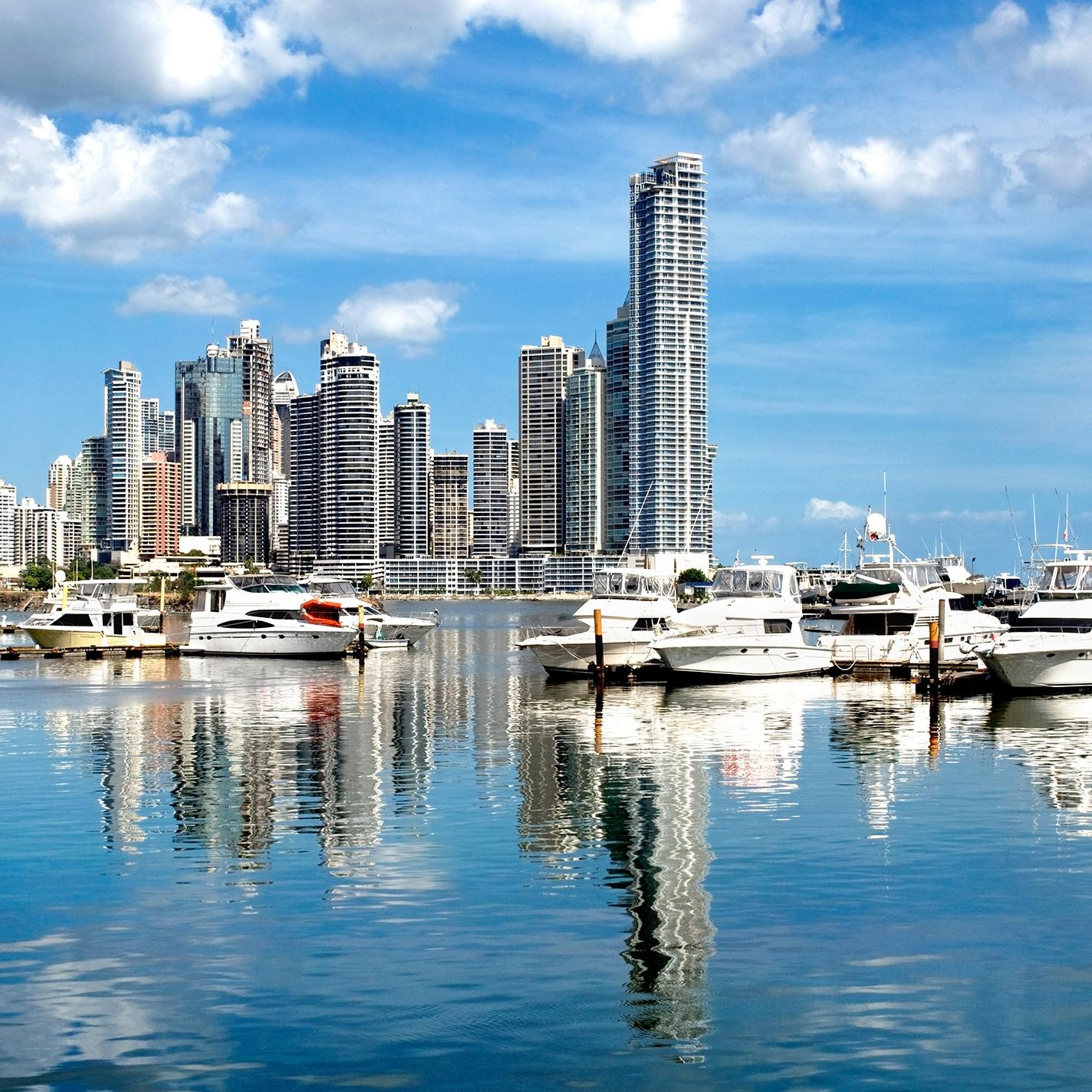 View of Panama City's harbor with Panama vacation packages