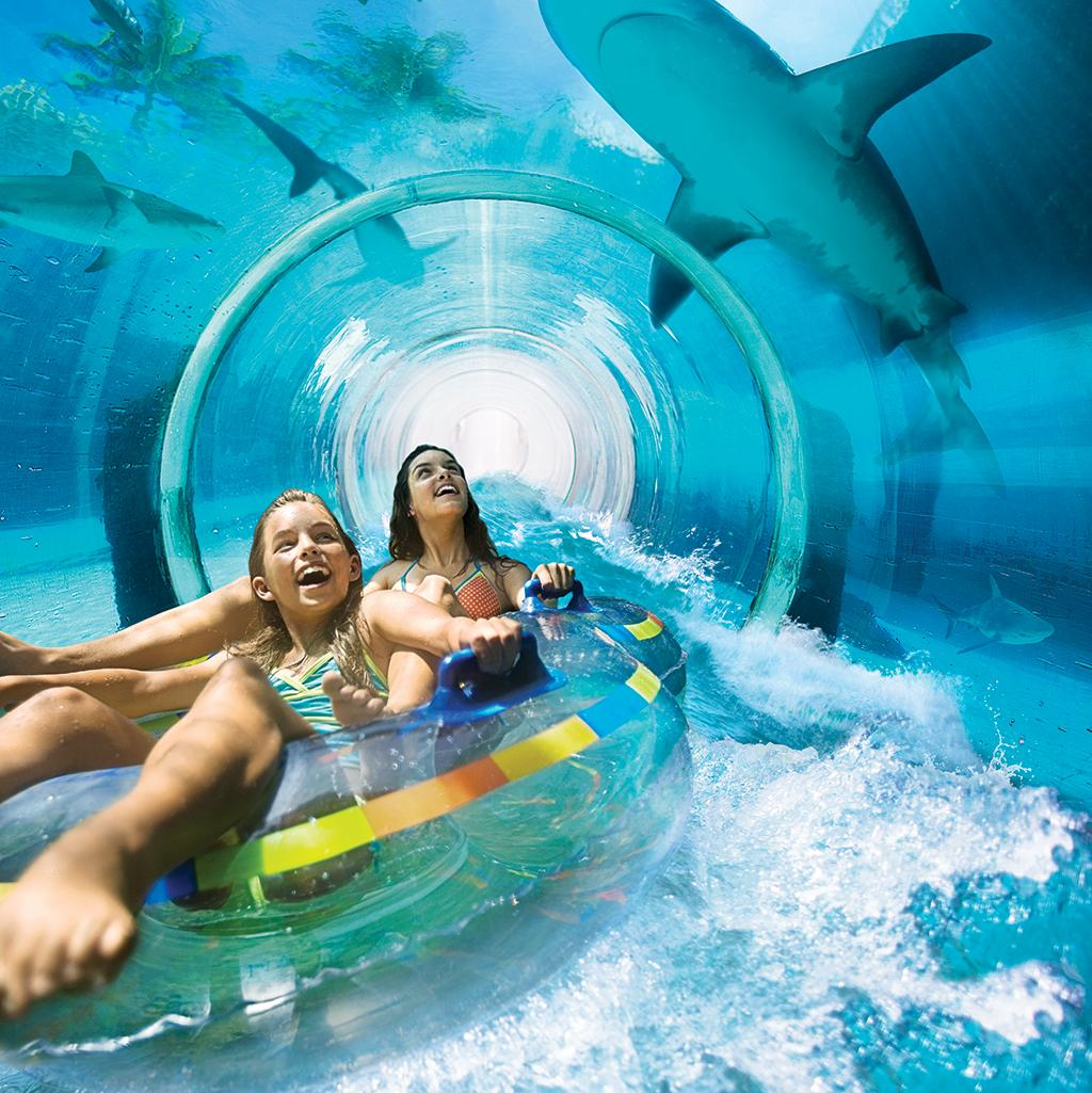 Slide underwater at Atlantis on Paradise Island vacations