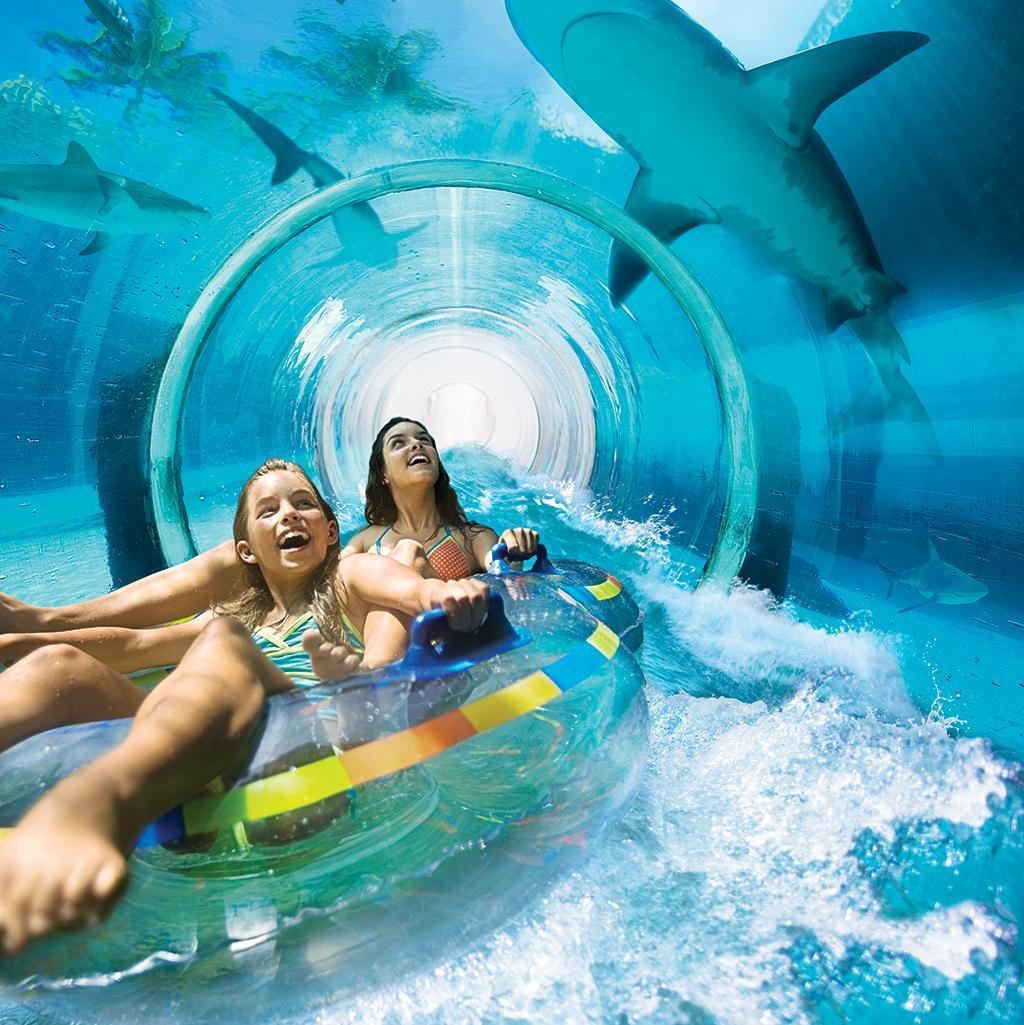 Slide underwater at Atlantis on Paradise Island vacations