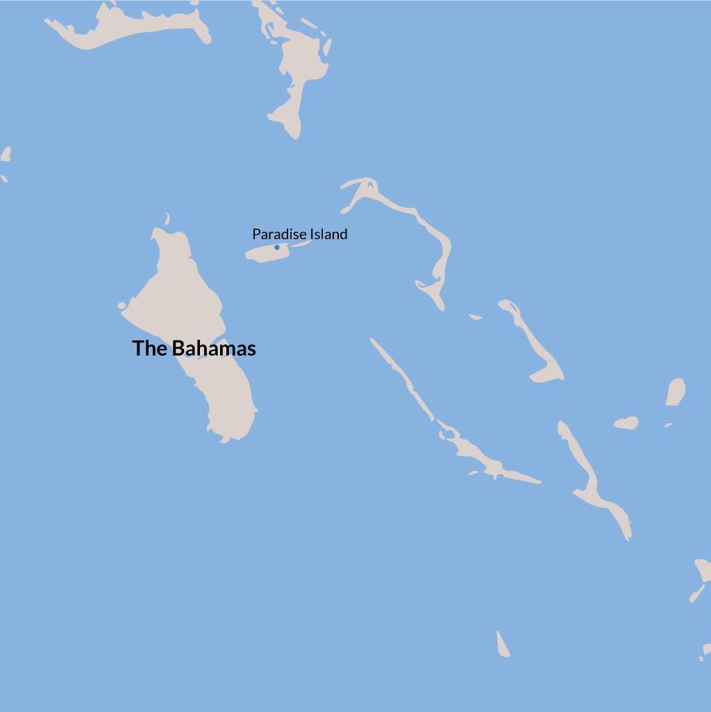 Paradise Island vacations map