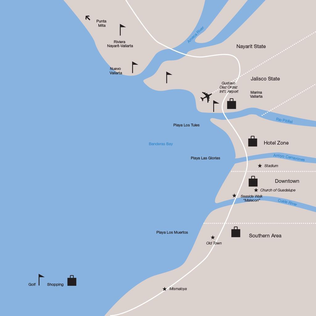Puerto Vallarta vacations map