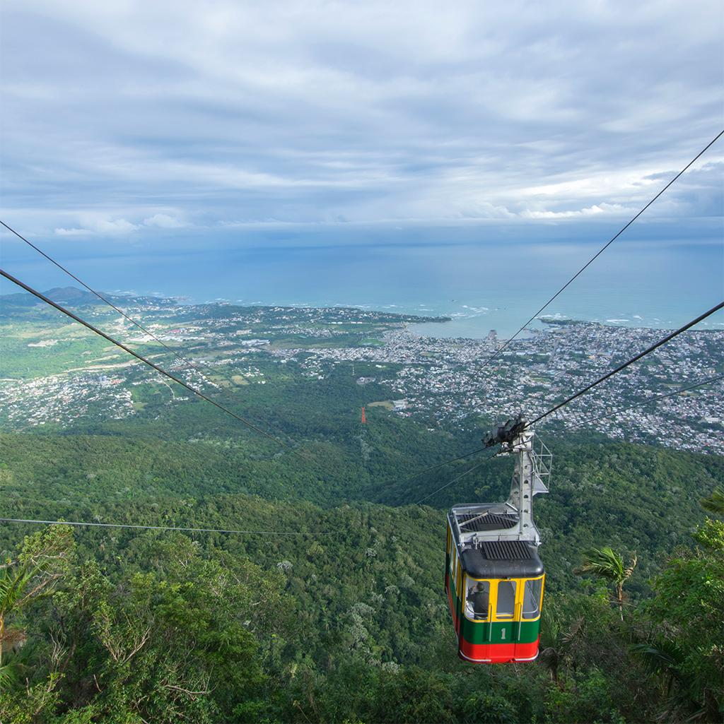 Mountainside cable cars in Puerto Plata