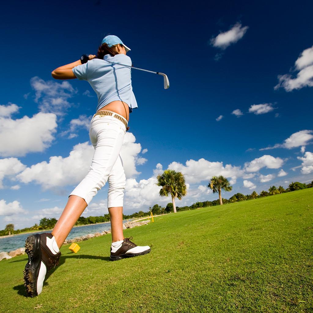 Golfing at a resort in Punta Cana