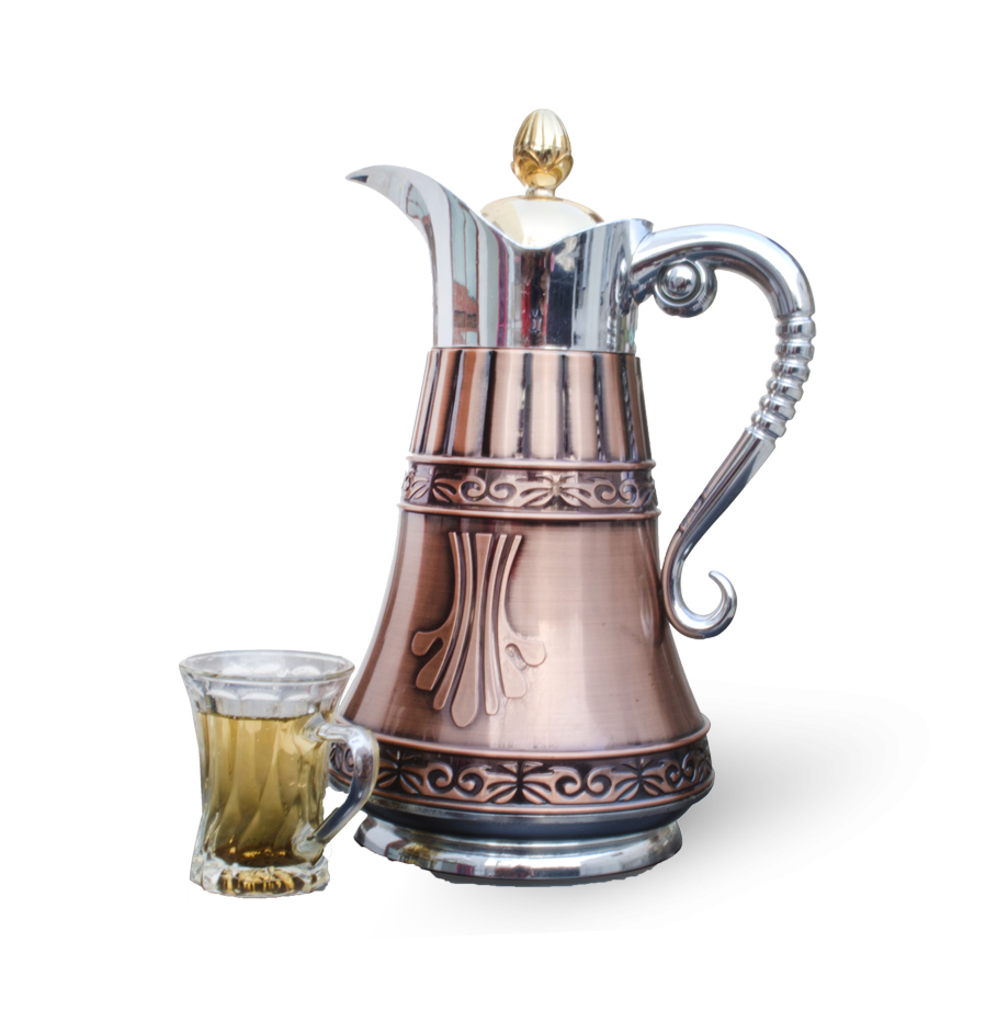 Dallah - traditional Arabic coffee pot and drinking glass