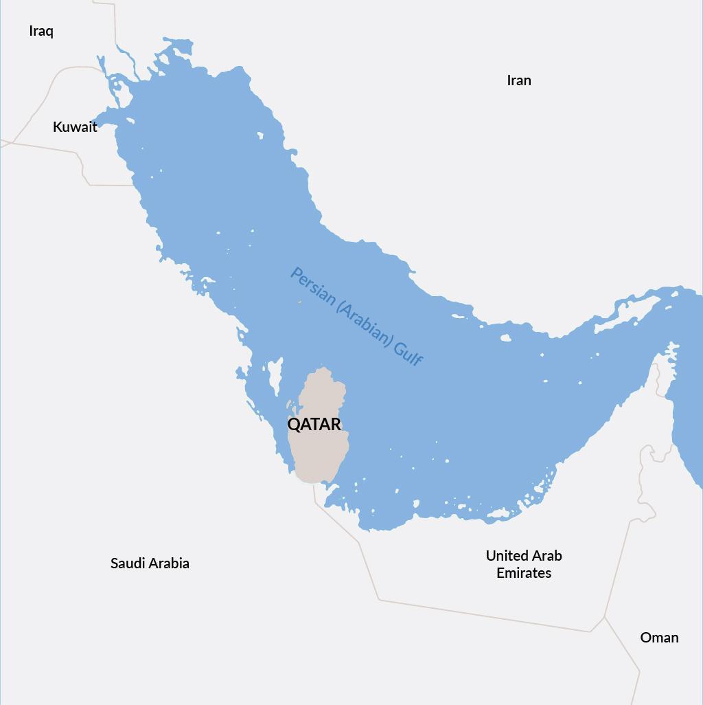 Qatar vacations map