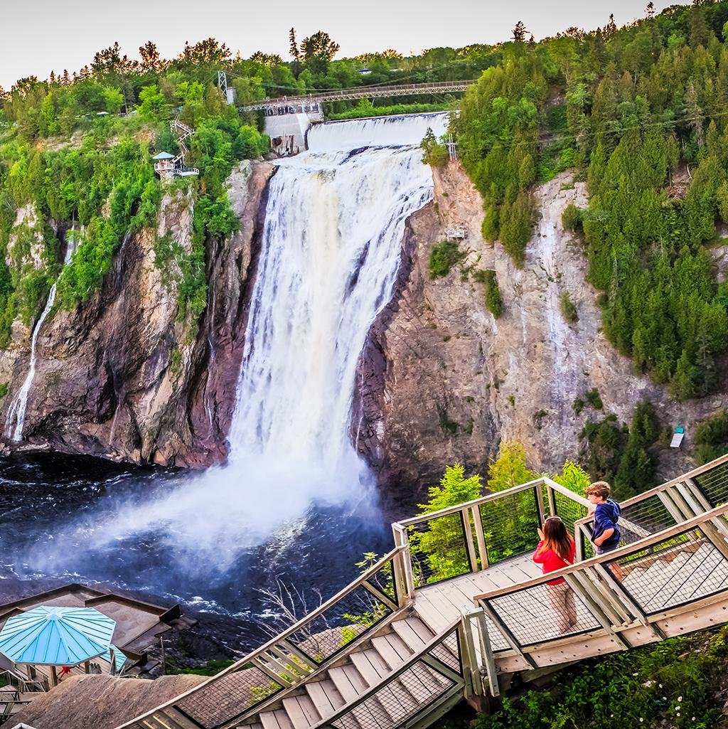 Visit the Montmorency Falls in Quebec City