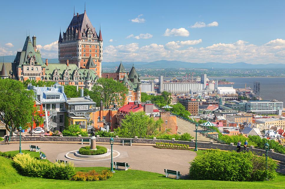 Explore old architecture in Quebec City