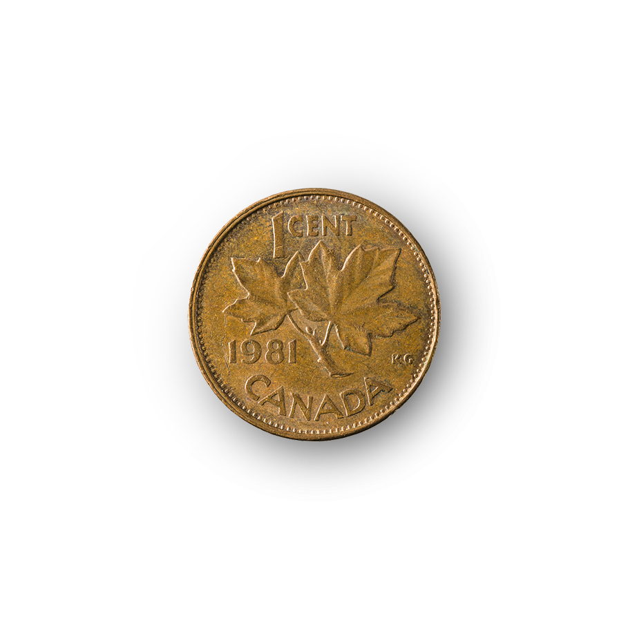 Canadian coin from Quebec City