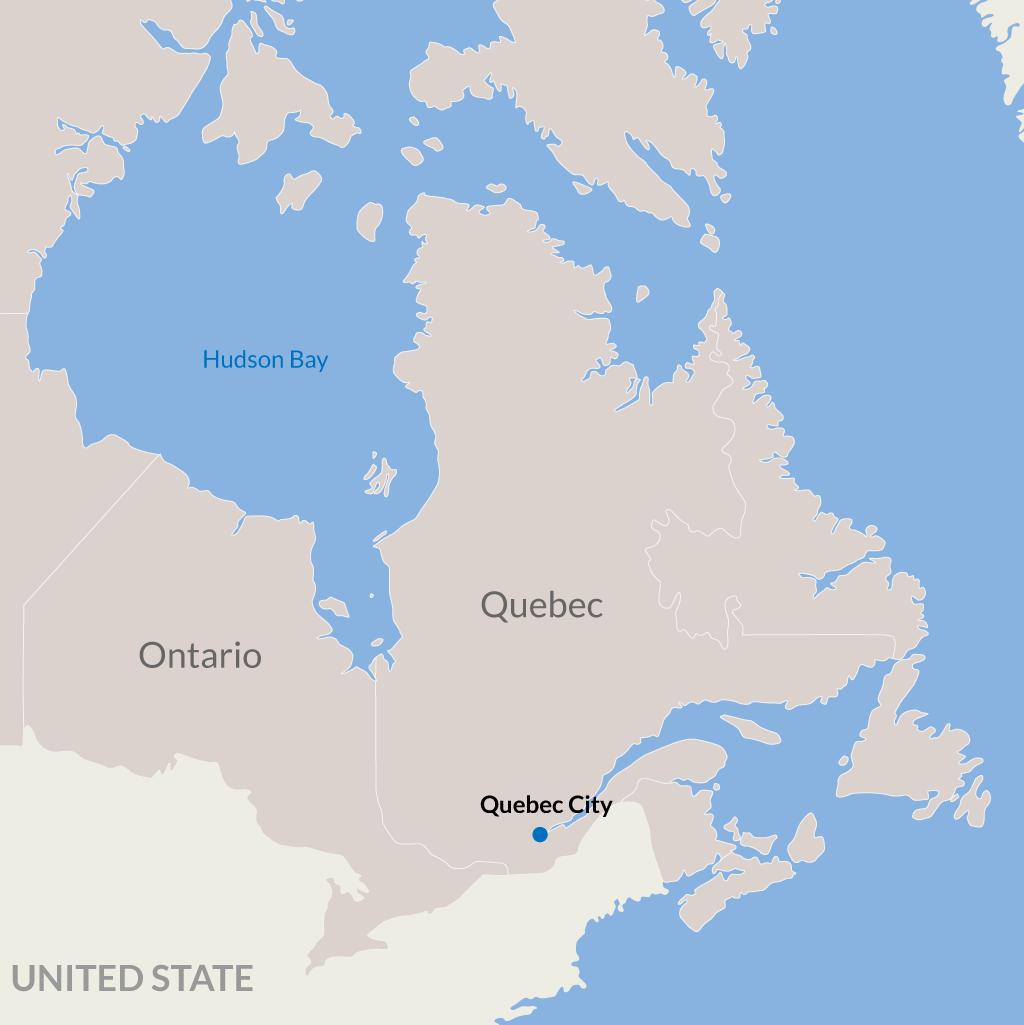 Quebec City vacations map