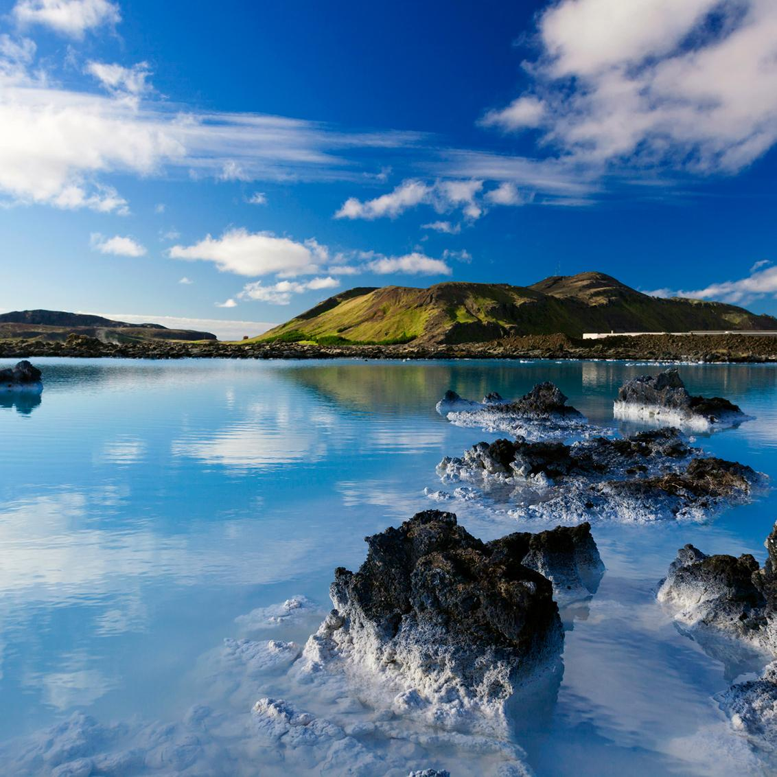 Glacial lakes and wilderness in Reykjavik Iceland