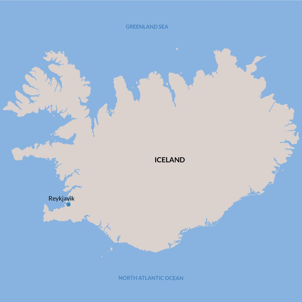 Reykjavik vacations map
