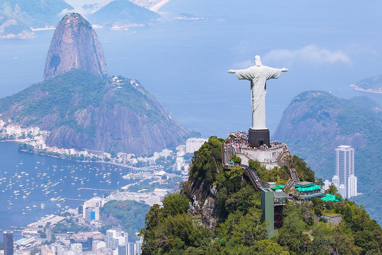 Image of Christ the Redeemer statue overlooking Rio de Janeiro
