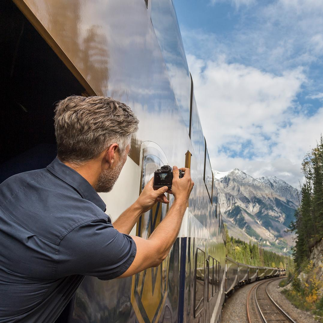 Memorable photos can be taken from a Rocky Mountaineer rail tour