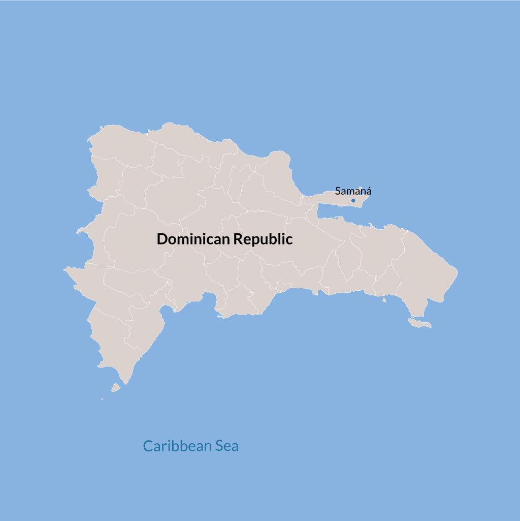 Samana vacations map