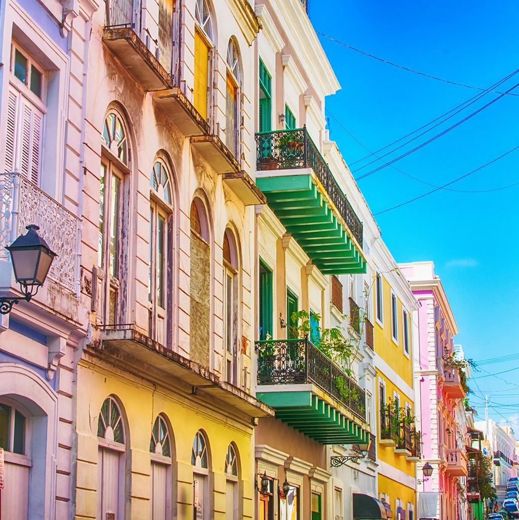 San Juan's colorful buildings