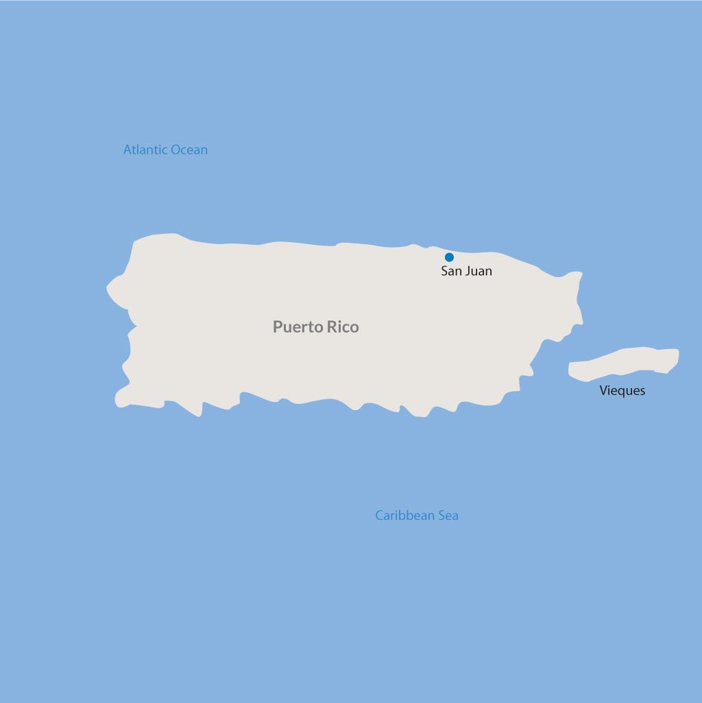 San Juan vacations map