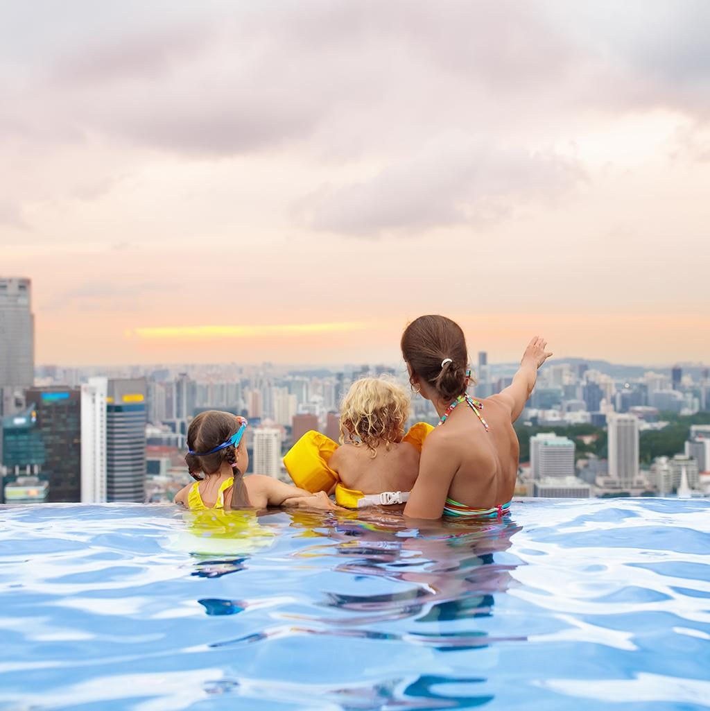 Family pool time: Singapore vacation packages