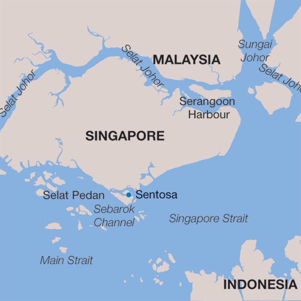 Singapore vacations map