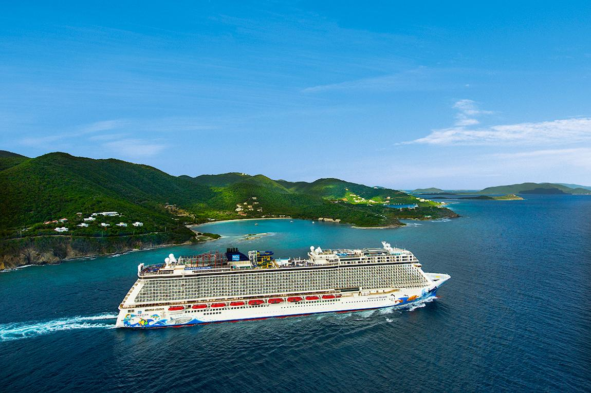 Norwegian Cruise Line Escape cruise ship on a sea voyage