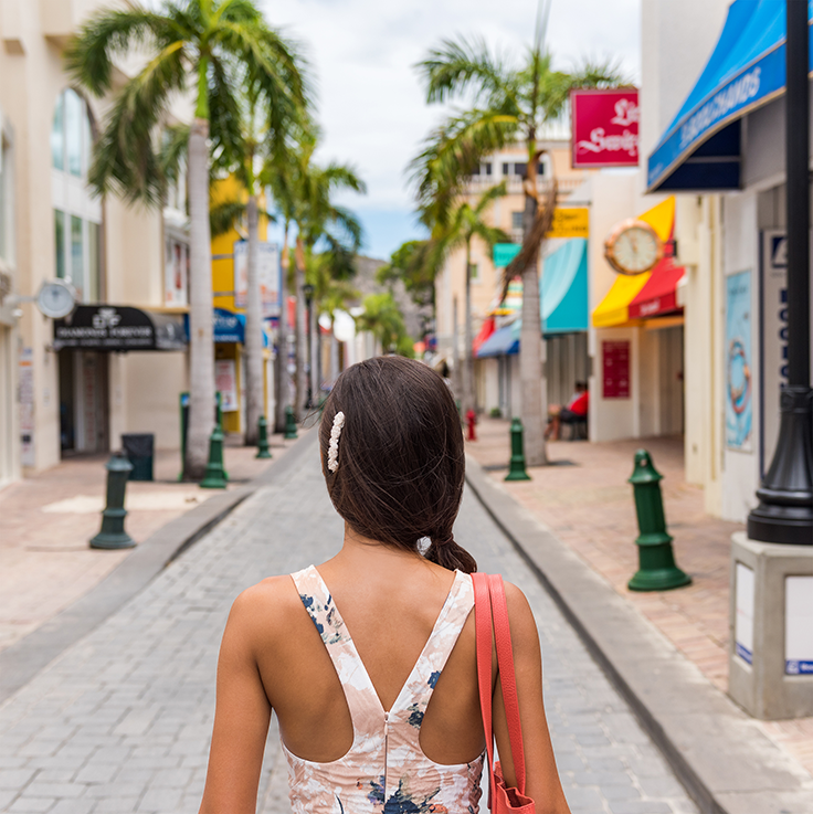 Strolling the streets of St. Martin/St. Maarten