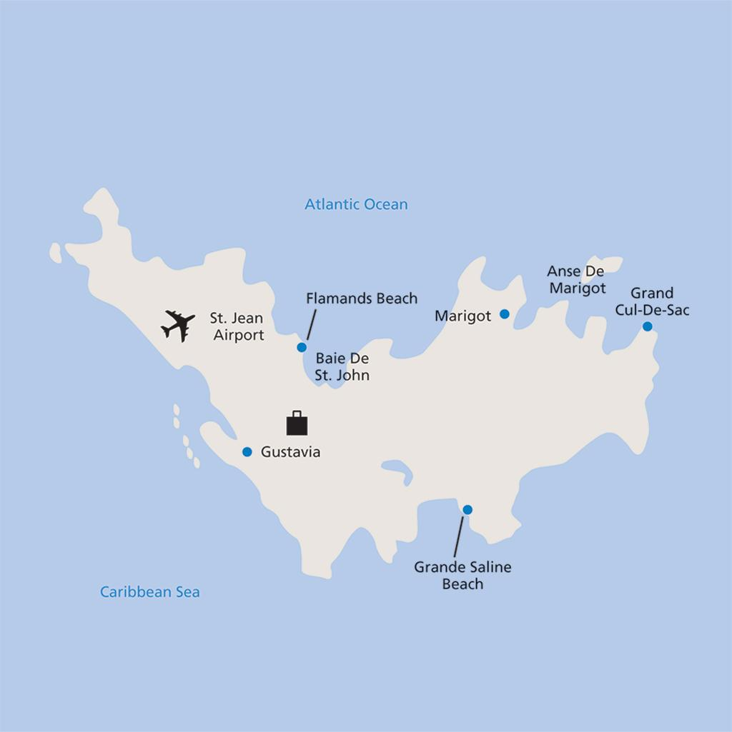 St Barths vacation map