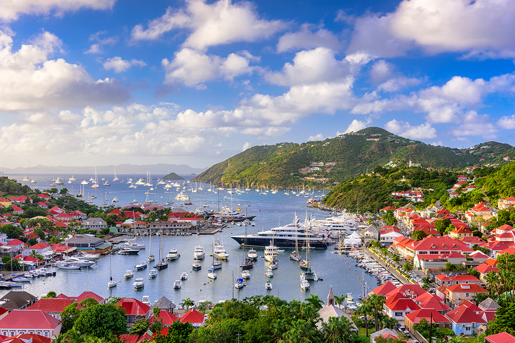 View of Gustavia Harbor, St. Barths vacation package