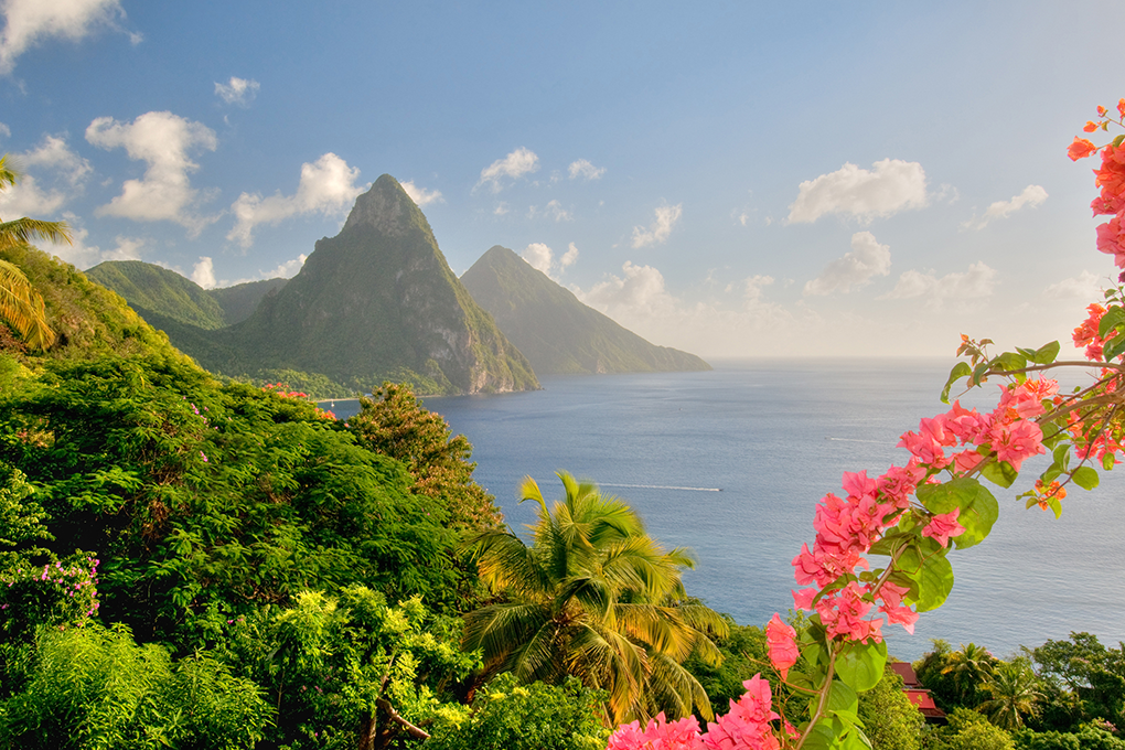 Beautiful scenery of St Lucia