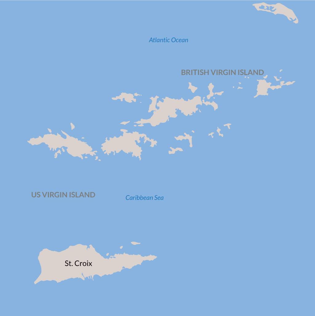 St. Croix vacations map