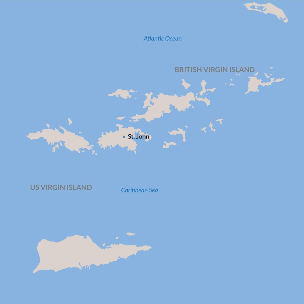 St. John vacations map