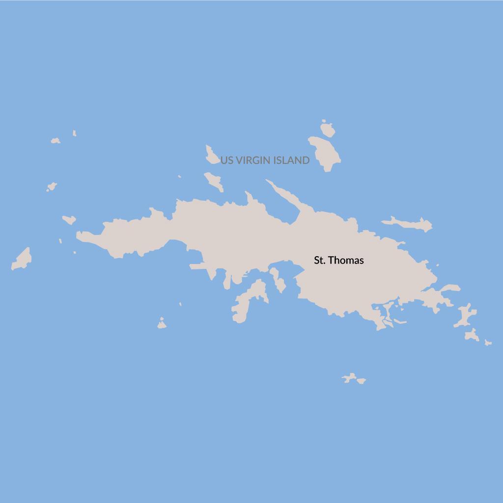 St. Thomas vacations map