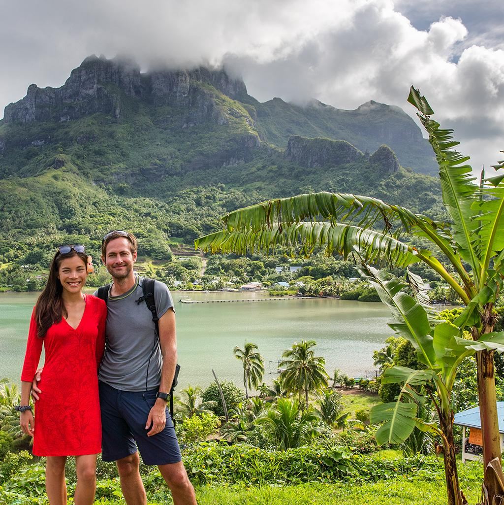 Hike among the lush thickets of Tahitian paradise