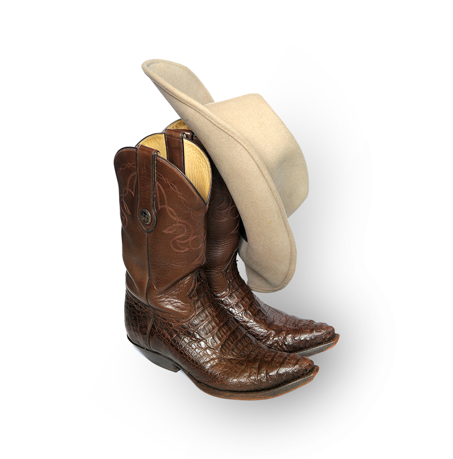 Cowboy boots and hat in Texas