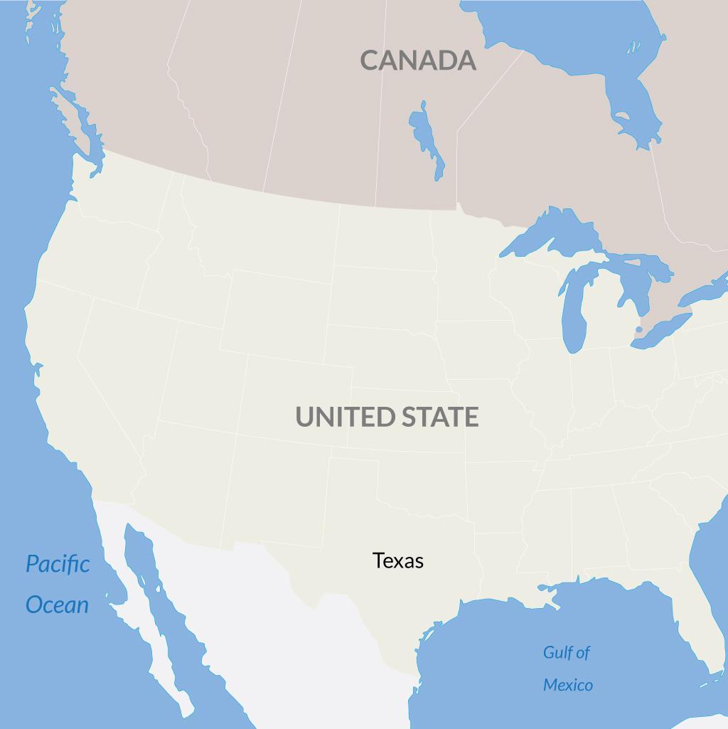 Texas vacations map
