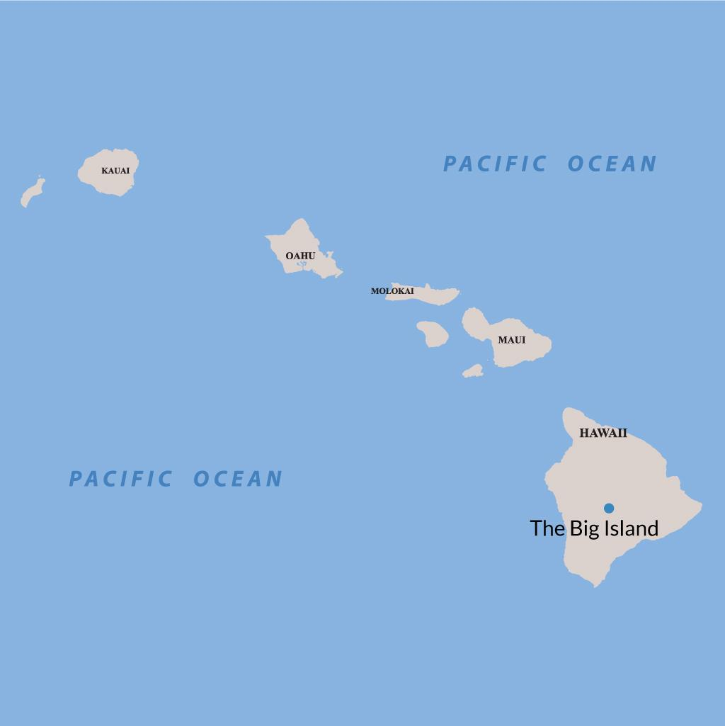 Big Island vacations map