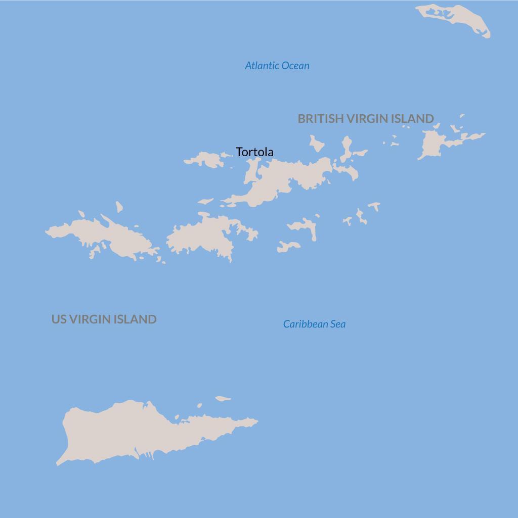 Tortola vacations map