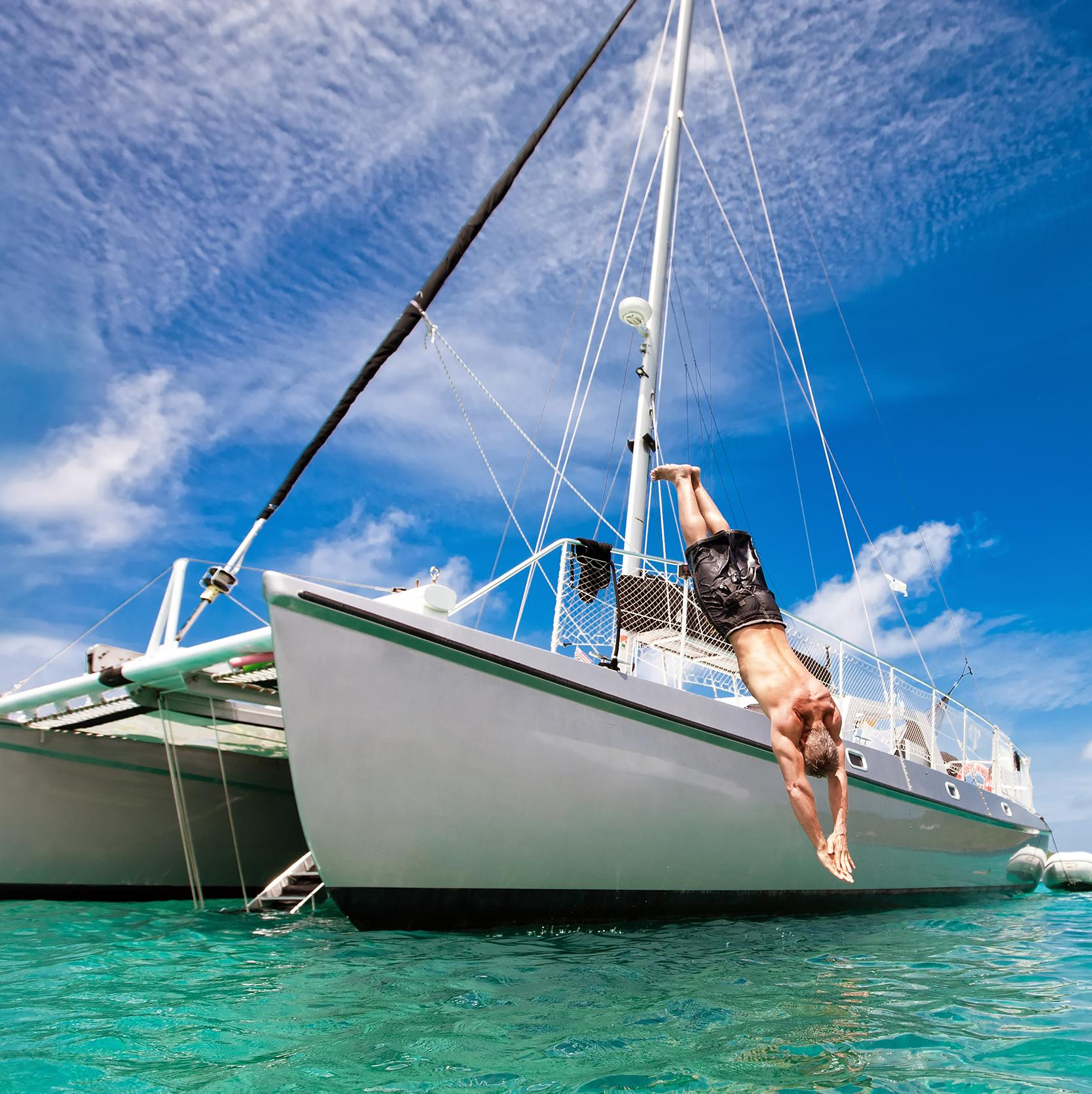 Sailing and swimming on a Turks and Caicos vacation