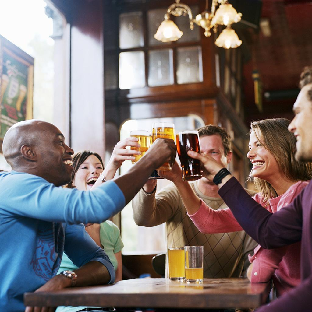 Share a pint with friends in the United Kingdom's famous pub scene