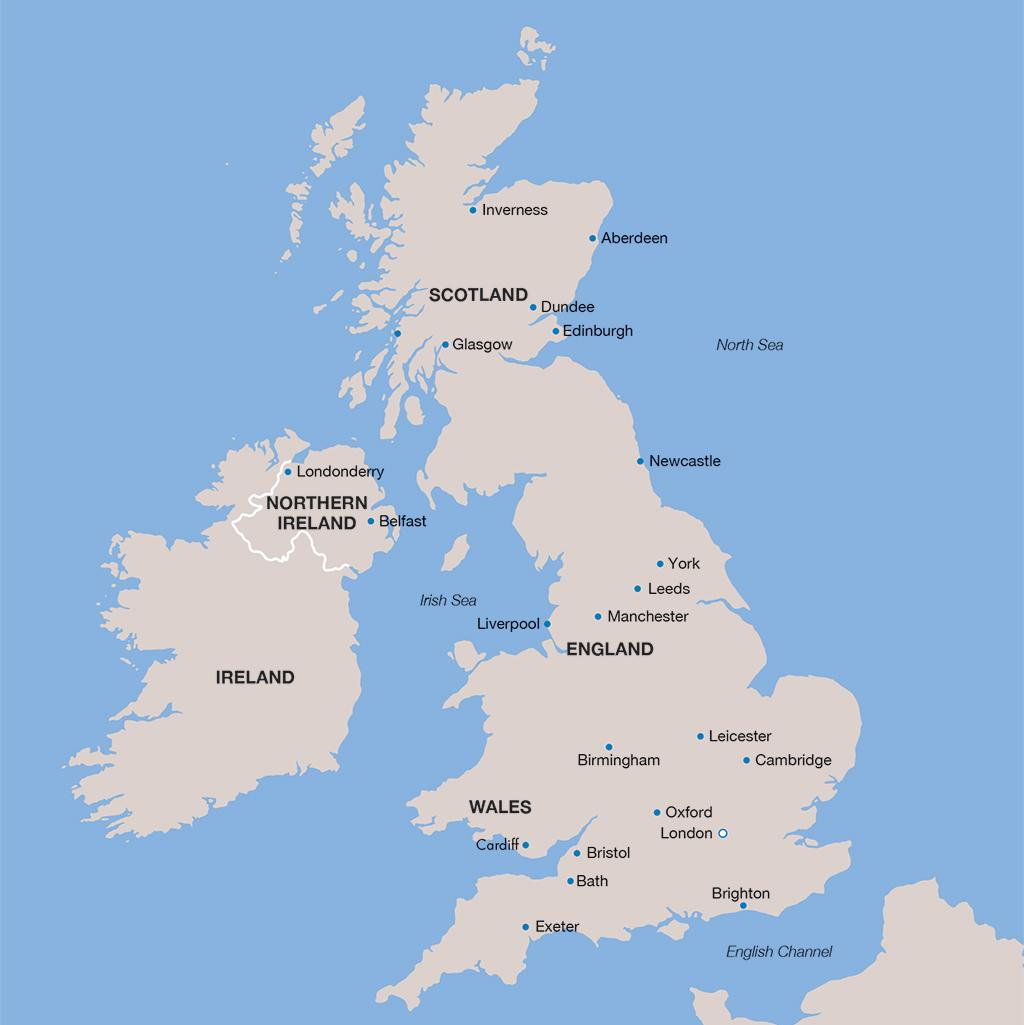 United Kingdom vacation map