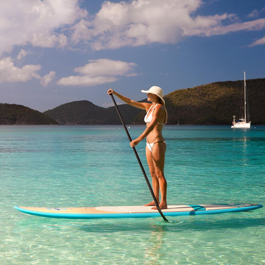 Go paddle boarding with US Virgin Islands vacation packages