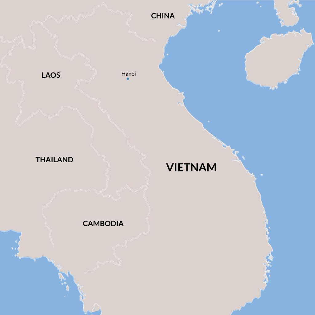 Vietnam vacations map
